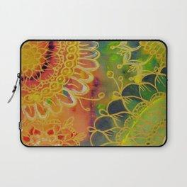 Golden Petals Laptop Sleeve