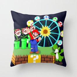 DJ Mario at EDC Throw Pillow