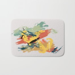 Intuitive Conversations, Abstract Mid Century Colors Bath Mat