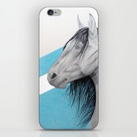 mustang iPhone & iPod Skins featuring Mustang by Putrizia Pine