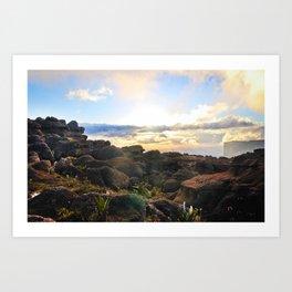 Sunset at roraima Art Print
