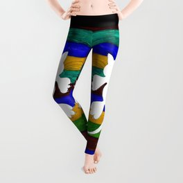 Stylized Cat Silhouette Leggings