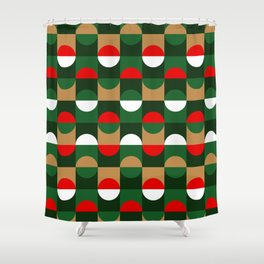 Christmas Geo // small print Shower Curtain