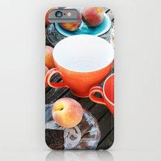 Peaches at teatime Slim Case iPhone 6s