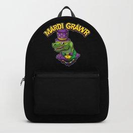 Mardi Grawr - Mardi Gras T-Rex - Dinosaur Costume Backpack