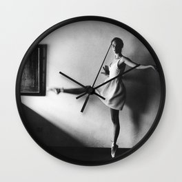 Dancing ballerina on film | Ballet performance in Firenze, Italy | Beautiful art, fine art  Wall Clock
