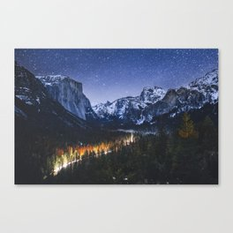 Tunnel View at Night Canvas Print