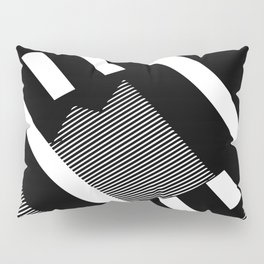 Thick Shadowed Lines Pillow Sham