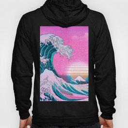 Vaporwave Aesthetic Great Wave Off Kanagawa Sunset Hoody