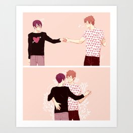 dancing boyfriends Art Print