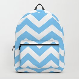 Light sky blue - turquoise color - Zigzag Chevron Pattern Backpack