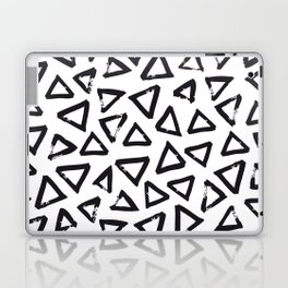 Black Brushstroke Triangel Pattern, Scandinavian Design Laptop & iPad Skin