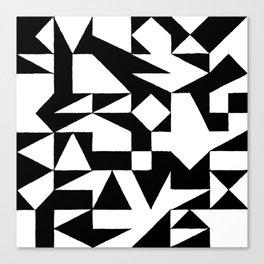 English Square (Black & White) Canvas Print