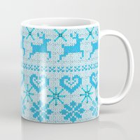 knitting Mugs featuring Scandinavian Knitting by Vannina