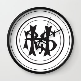 Hudson River State Hospital Initials Wall Clock
