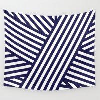 nautical Wall Tapestries featuring Nautical Bandaids by Jenna Mhairi