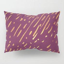 Fuchsia Golden Stripes Pillow Sham