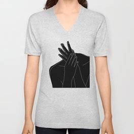 Black and white figure - Emmy Unisex V-Neck