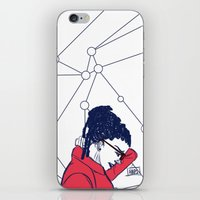 cosima iPhone & iPod Skins featuring Cosima in Red by the-haps