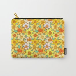 Daffodils (blue) Carry-All Pouch