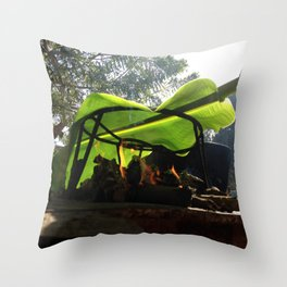 Bijao para la vida / Bijao for life Throw Pillow