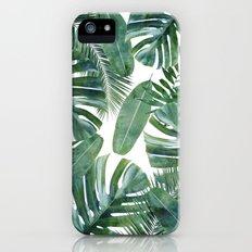MONSTERA PATTERN iPhone SE Slim Case