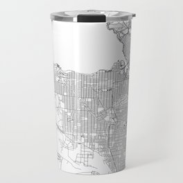 Vancouver White Map Travel Mug
