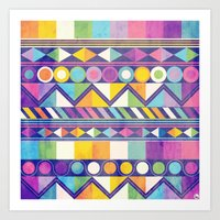 Texture and Colour 1 Art Print
