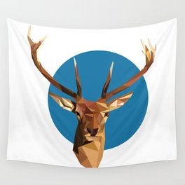oh deer, triangles. Wall Tapestry