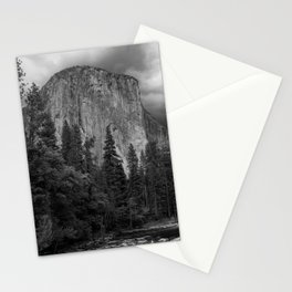 Yosemite National Park, El Capitan, Black and White Photography, Outdoors, Landscape, National Parks Stationery Cards