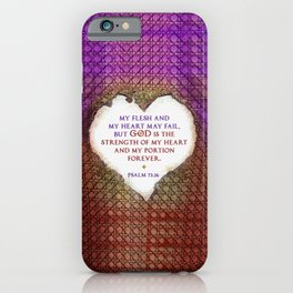 The Strength of My Heart iPhone Case