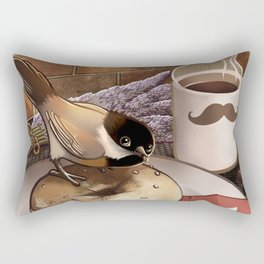 The Bagel Thief Rectangular Pillow