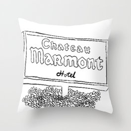 Chateau Marmont Sign Throw Pillow