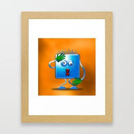 cubickly challenged Framed Art Print