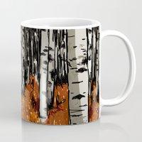 birch Mugs featuring Birch by LeahOwen