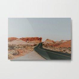 Desert Road Trip IV / Valley of Fire, Nevada Metal Print