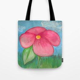 Big Pink Bloom Tote Bag