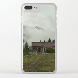 Mountain Cabin Clear iPhone Case