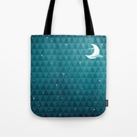night sky Tote Bags featuring Night Sky by littleclyde