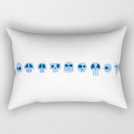 Nine Blue Skull Rectangular Pillow