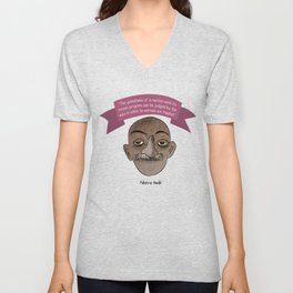 Mahatma Gandhi quote Unisex V-Neck