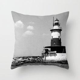 Robbins Reef Lighthouse Throw Pillow