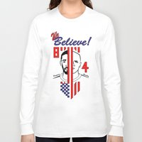 pirlo Long Sleeve T-shirts featuring we believe!! by Miguel Angel Illustrations