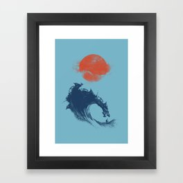 MONSTER WAVE Framed Art Print
