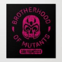 xmen Canvas Prints featuring Bad Boy Club: Brotherhood of Mutants  by Josh Ln