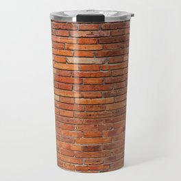 Red Brick Wall Pattern Travel Mug