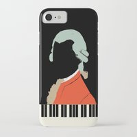 mozart iPhone & iPod Cases featuring Mozart  by Prelude Posters