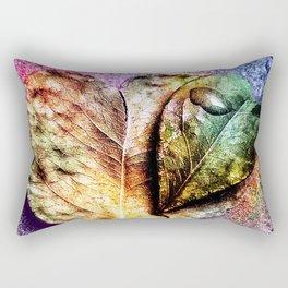 Water drop on green heart leaf - A pitangueira Rectangular Pillow