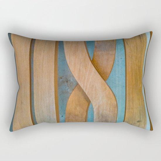 Cross the Wood Rectangular Pillow