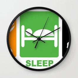eat sleep linux Wall Clock
